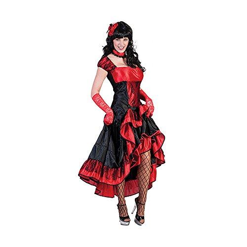 Kostümplanet® Western-Kostüm Damen Karnevalskostüm Saloon Girl Größe 40/42