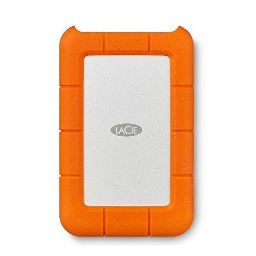 LaCie Rugged USB-C, tragbare externe Festplatte 2 TB, 2.5 Zoll, USB-C, PC & Mac, inkl. 2 Jahre Rescue Service, Modellnr.: STFR2000800