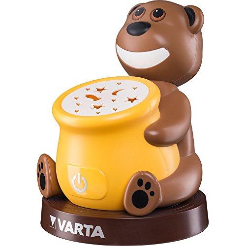 Varta Paul the Bear LED Nachtlicht (Schlummerleuchte geeignet für Kinder, Orientierungslicht Nachtlampe Taschenlampe Stimmungslicht mit Touch-Sensor und Auto-Abschaltfunktion)