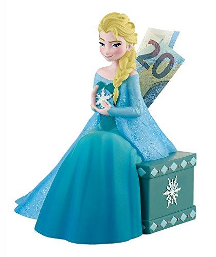 Bullyland 13070 - Spardose für Kinder, Walt Disney Frozen Elsa, ca. 18 cm groß, ein tolles Geschenk für Jungen und Mädchen, ideal zum Sparen und fürs Taschengeld