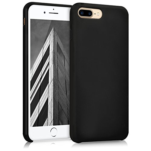 kwmobile Hülle kompatibel mit Apple iPhone 7 Plus / 8 Plus - Handyhülle gummiert - Handy Case in Schwarz