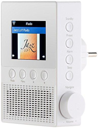 VR-Radio Steckdosenradio: Steckdosen-Internetradio IRS-300 mit WLAN, 6,1-cm-Display, 6 Watt (Steckdosenradio mit Fernbedienung)