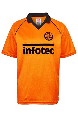 ScoreDraw Herren Retro - Trikot Eintracht Frankfurt   Auswärtstrikot 1981 in Orange, Größe: XXL