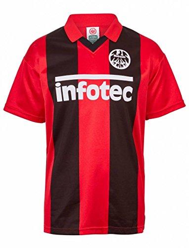 Scoredraw Herren Retro - Trikot Eintracht Frankfurt | Heimtrikot 1981 in Rot-Schwarz, Größe: L