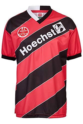 Score Draw Herren Retro - Trikot Eintracht Frankfurt | Heimtrikot 1988 in Schwarz-Rot, Größe: 3XL