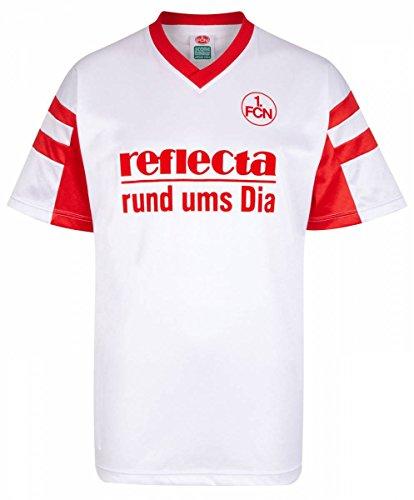 Scoredraw Herren Retro - Trikot 1. FC Nürnberg | Auswärtstrikot 1988 in Weiß, Größe: XL