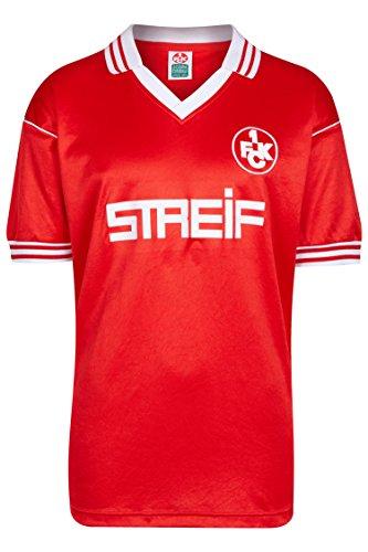 Scoredraw Herren Retro - Trikot 1. FC Kaiserslautern | Heimtrikot 1980/81 in Rot, Größe: L