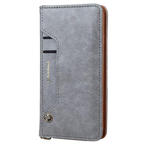 HARRMS Handyhülle Handytasche Apple iPhone 6/6S mit Kartenfach Kredit Karten Geldklammer Hülle Kunst Leder Handy Schutzhülle