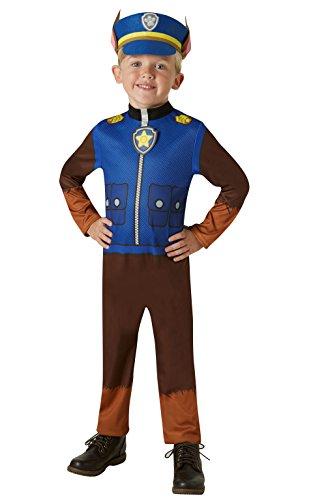 Rubie's offizielles PAW Patrol Chase-Kostüm–Kleinkinder von 2 bis 3Jahren, Größe 98cm