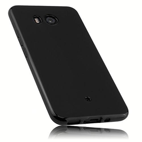 mumbi Hülle kompatibel mit HTC U11 Handy Case Handyhülle, schwarz
