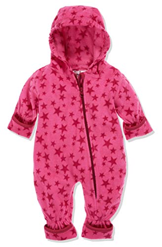 Playshoes Baby-Unisex Fleece-Overall Sterne Schneeanzug, Rosa (Pink 18), 62