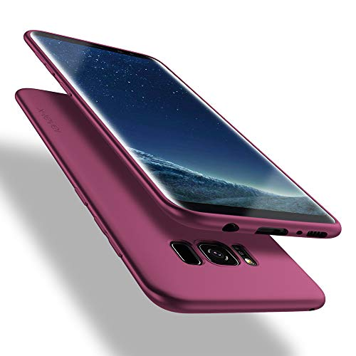 X-level Samusung Galaxy S8 Hülle, [Guadian Serie] Soft Flex Silikon [Weinrot] Premium TPU Echtes Telefongefühl Handyhülle Schutzhülle für Samsung Galaxy S8 5,8 Zoll Case Cover