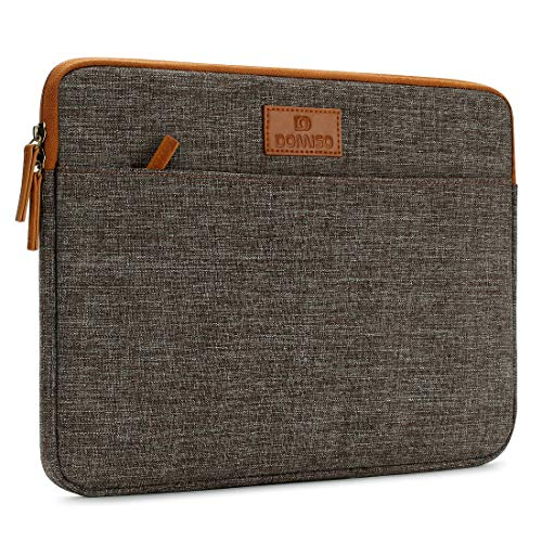 "DOMISO 15.6 Zoll Laptophülle Hülle Sleeve Case Etui Notebook Schutzhülle Canvas-Gewebe Tasche für 15.6\"" Notebook Computer / 15.6\"" Dell Inspiron 15/15.6\"" Lenovo IdeaPad 310, Braun"