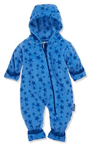 Playshoes Baby-Unisex Fleece-Overall Sterne Schneeanzug, Blau (Blau 7), 62