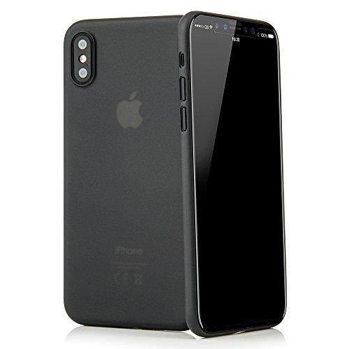 """QUADOCTA iPhone X, iPhone XS (5,8\"""") Premium Ultra Slim Hülle - Schutzhülle - Tenuis in Schwarz - Case Ultra dünn - Smart Cover leicht transparent - Schale für Apple iPhone 10 10s mit Kamera Schutz"""