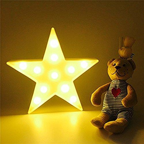 JYSPORT LED Einhorn Nachtlichter Kinderzimmer Stimmungslicht Unicorn Lampen Nacht Licht Baby \\ Children\'s Room Dekorationen (Star)