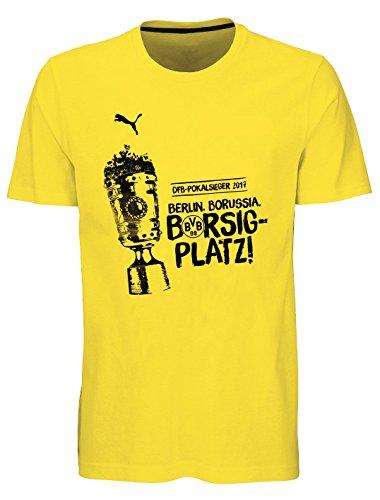 puma BVB BORUSIA DORTMUND Shirt Kinder DFB-Pokalsieger 2017, Größe:164