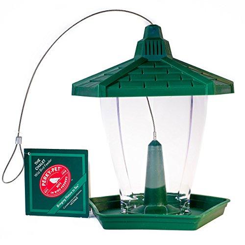 "Perky-Pet Vogelfutterspender ""Chalet"" für Wildvögel / Vogelfutterhaus aus Kunststoff / Füllkapazität 0,6 kg /Mod. HF950"