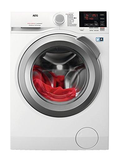 AEG L6FBA48 Waschmaschine / 8 kg / Waschvollautomat mit Mengenautomatik, Nachlegefunktion, Kindersicherung, Schontrommel / 1400 U/min