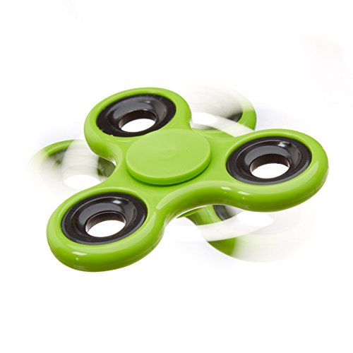 Relaxdays Fidget Spinner Tri-Bar, 58 g Finger Spinner mit Hochleistungskugellager f. coole Tricks und Entspannung, grün