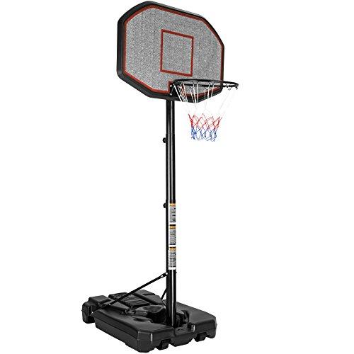 TecTake Basketballkorb Basketballanlage mit Ständer   Höhenverstellbar   Korbhöhe 200-305 cm