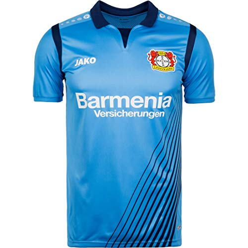 JAKO Herren 2018/2019 Bayer 04 Leverkusen Auswärtstrikot, hellblau/blau, XL-52/54