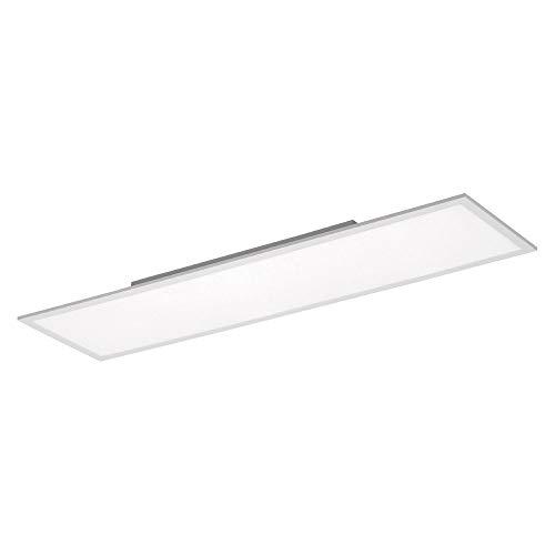 LED Panel flach, 120x30, dimmbare Decken-Lampe   Helligkeit mit Fernbedienung einstellbar, kaltweiss 4000 Kelvin   Decken-Leuchte für Büro, Wohnzimmer, Küche und Bad