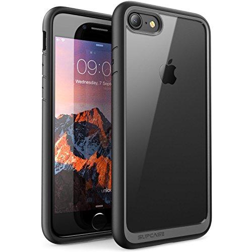 "SUPCASE Hülle für iPhone SE (4,7\"") 2020 Handyhülle iPhone 8 Premium Case Hybrid Schutzhülle Transparent Backcover [Unicorn Beetle Style] für iPhone SE / iPhone 8 / iPhone 7, Schwarz"