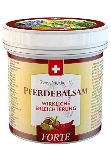 SwissMedicus - Pferdebalsam wärmend extra stark - Pferdesalbe Forte 500 ml - wärmendes Massage-Gel für Rücken und Gelenke - ideal für Sportler - enthält 25 Kräuterextrakte