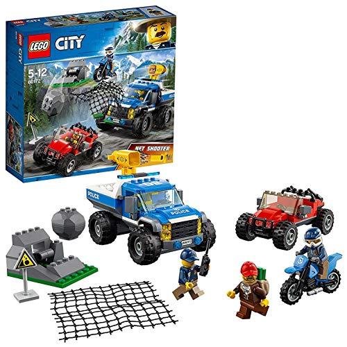 Lego City 60172 - Bergpolizei Verfolgungsjagd auf Schotterpisten, Unterhaltungsspielzeug