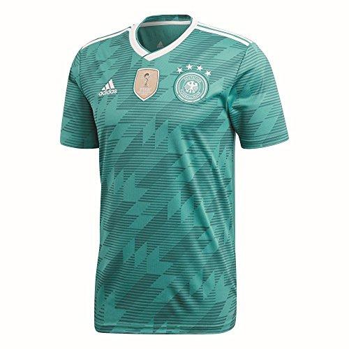 adidas Herren Dfb Away Jersey 2018 Trikot, grün (eqt green s16/White/Real teal s10), L