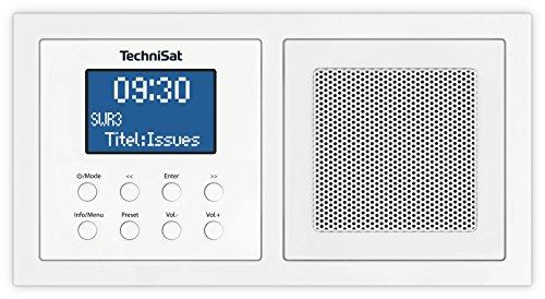TechniSat DIGITRADIO UP 1 - DAB+ Unterputzradio zur Anbringung in jeder Doppel Unterputzdose (DAB, UKW, Bluetooth, dimmbares LCD-Display, Wecker, Sleeptimer, 2 Watt RMS) weiß