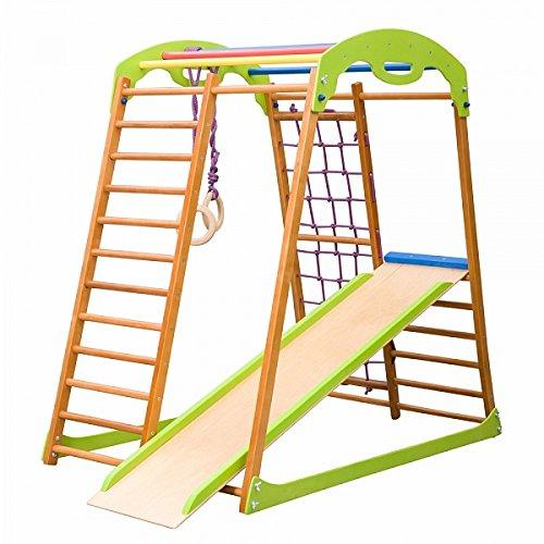 """Kinder zu Hause Fitness-Studio \""""Babywood\"""" Holzspielplatz, Kletterwand, Kinder zu Hause aus Holz, Turnwand, Sprossenwadn"""