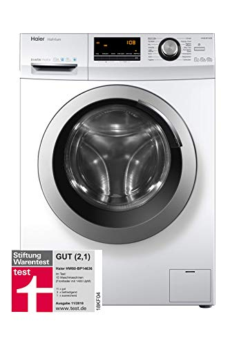 Haier HW80-BP14636 Waschmaschine Frontlader / A+++ / 8 kg / 1400 UpM / Vollwasserschutz / Weiß