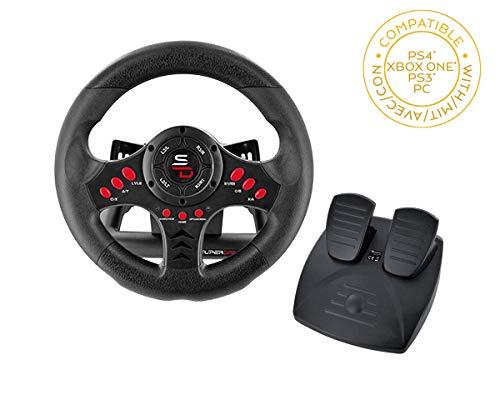 Superdrive - Rennlenkrad / Lenkrad Racing Wheel SV400 mi pedalen und Schaltpaddles für PS4 - Xbox One - PC et PS3