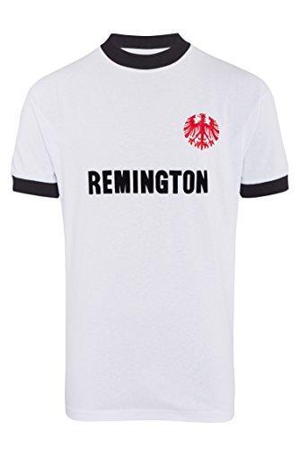 Score Draw Herren Retro - Trikot Eintracht Frankfurt   Auswärtstrikot 1974 in Weiß, Größe: S