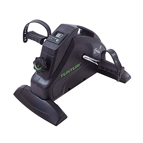 Tunturi Cardio Fit M30 Mini Bike Heimtrainer / Pedaltrainer / Arm- und Beintrainer / Minifahrrad / Bewegungstrainer für Senioren mit LCD-Bildschirmanzeige - Schwarz