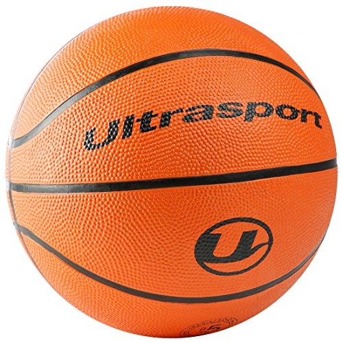 Ultrasport Kinder Basketball, kleinere Größe 5 mit 70 cm Umfang, idealer Basketball für Kinder / weicher Basketball mit griffiger Oberfläche, Orange, Sportbasketball, Indoor und Outdoor Basketball