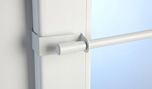 Jellinghaus Sonnenschutz Klemmstange Easy Fix weiß oder edelstahl-optik ausziehbar 45-75cm oder 75-125cm ohne Bohren Vitrage zum Klemmen - Klemmstange (weiß, 75 - 125 cm)