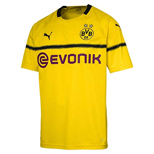 PUMA Herren BVB Cup Shirt Replica with Evonik Logo Without OPEL Trikot, Cyber Yellow, L