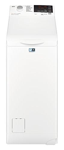 AEG L6TB61370 Waschmaschine Toplader / Energiesparender Waschvollautomat / Energieklasse F / Mit ProSense-Technologie und OptiSense Mengenautomatik / 40 cm breit mit 7 kg Fassungsvermögen