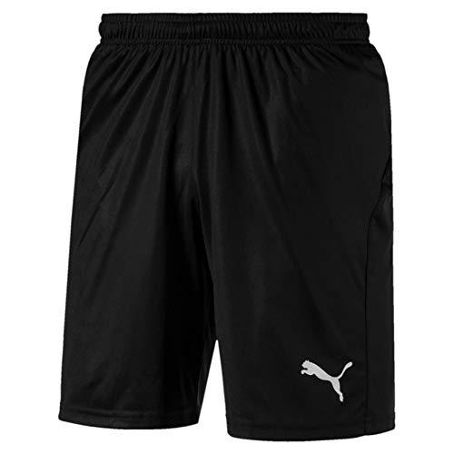 Puma Herren Liga Shorts Core with Brief Hose, Black White, S
