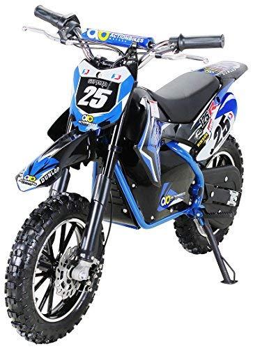 """Kinder Mini Elektro Crossbike\""""Gepard\"""" 500 Watt verstärkte Gabel 36 Volt Enduro Motorcrossbike Pocketbike (Blau)"""