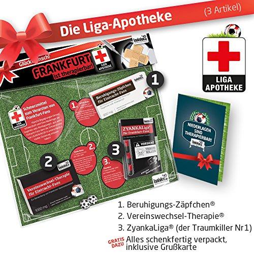 Geschenk-Set: Die Liga-Apotheke für Eintracht-Fans   3X süße Schmerzmittel für Eintracht Fans   Die besten Fanartikel der Liga, Besser als Trikot, Home Away, Fan-Schal