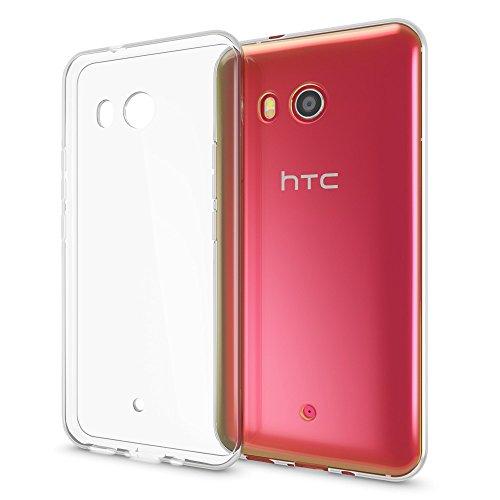 NALIA Handyhülle kompatibel mit HTC U11, Ultra-Slim Soft TPU Silikon Case Cover, Crystal Clear Schutzhülle Dünn Durchsichtig, Etui Handy-Tasche Backcover Skin Smart-Phone Hülle Bumper - Transparent
