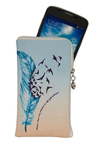 Gütersloher Shopkeeper Elegante Reissverschluss Handytasche Softcase My Future geeignet für Motorola Moto Z2 Force - Handy Schutz Hülle Soft Etui Tasche