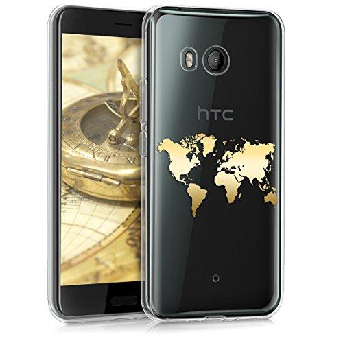 kwmobile HTC U11 Hülle - Handyhülle für HTC U11 - Handy Case in Gold Transparent