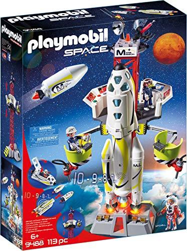 Playmobil 9488 Spielzeug-Mars-Rakete mit Startrampe