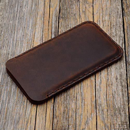 Braune iPhone 11 PRO, XS, X Hülle Tasche Cover Leder Etui Case Ledertasche Handyschale Gehäuse Ledertasche Lederetui Lederhülle Handytasche Handysocke Handyhülle
