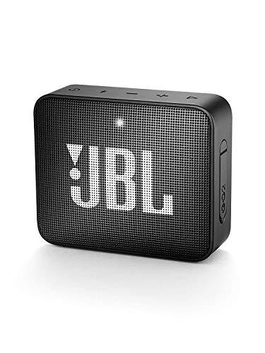 JBL GO 2 kleine Musikbox in Schwarz – Wasserfester, portabler Bluetooth-Lautsprecher mit Freisprechfunktion – Bis zu 5 Stunden Musikgenuss mit nur einer Akku-Ladung